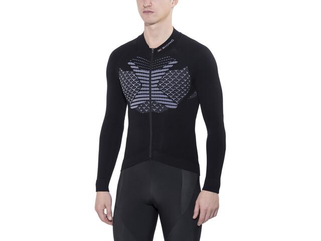 X-Bionic Twyce Koszulka kolarska z długim rękawem Mężczyźni, black/white